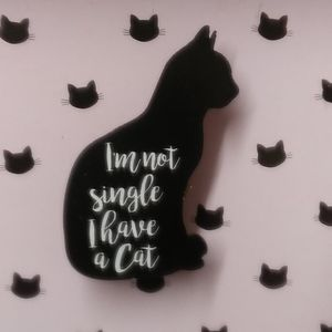 "Other - ""I'm Not Single I Have A Cat"" Wall Hanging"